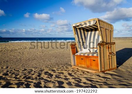 Salamansa beach in São Vicente - stock photo