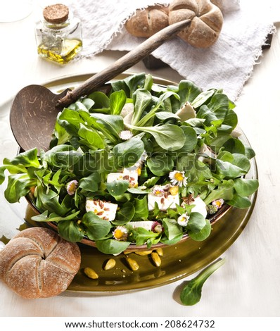 salat tofu  - stock photo