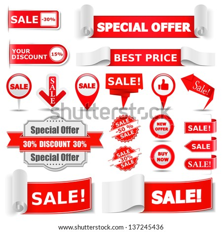 Sale Banners - stock photo