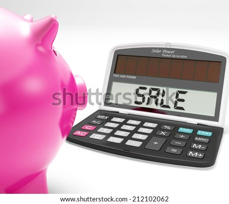 Sale Calculator Showing Price Reduction Or Discounts