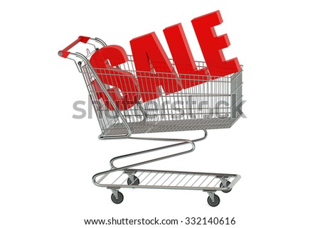 sale concept isolated on white background - stock photo
