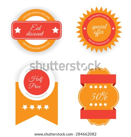 Sale, discount , label or sticker set on occasion Eid. - stock photo