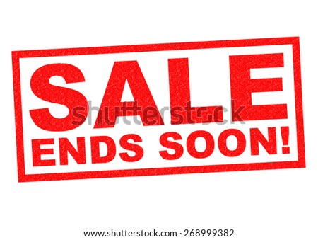 SALE ENDS SOON! red Rubber Stamp over a white background. - stock photo