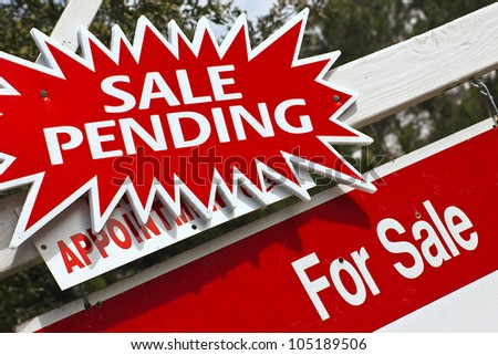 Sale is pending for real estate property. - stock photo