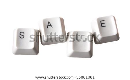 Sale keys on a white isolated - stock photo