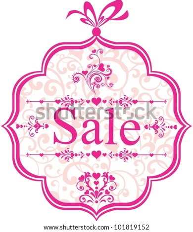 Sale Label isolated on White background. Illustration - stock photo