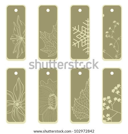Sale label with seasonal flower decoration.  Raster version. - stock photo