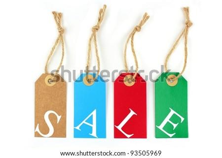 Sale labels - stock photo