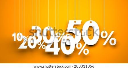 Sale metaphor - stock photo