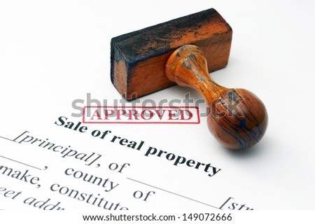 Sale of real property concept - stock photo