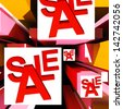 Sale On Cubes Showing Special Discounts And Promotions - stock photo