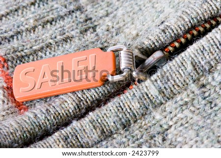 Sale orange tag - stock photo