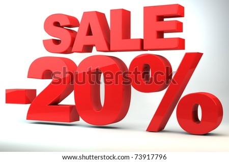 Sale - price reduction of 20%
