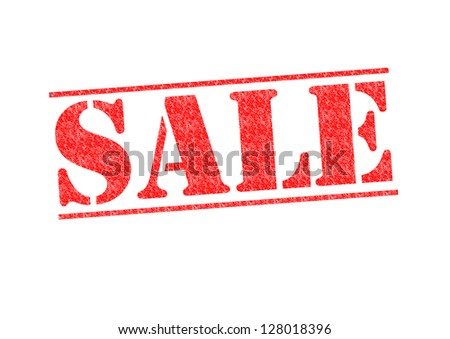 SALE red rubber stamp over a white background.