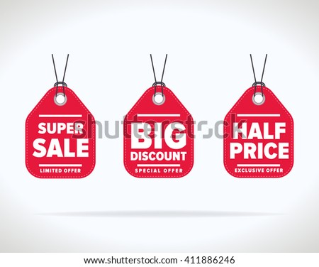 Sale tag bitmap isolated. Sale sticker with special advertisement offer. Best price tag. Half price tag.