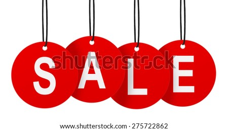 sale tags isolated on white background