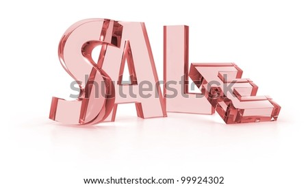 Sale tags red color in white background - stock photo