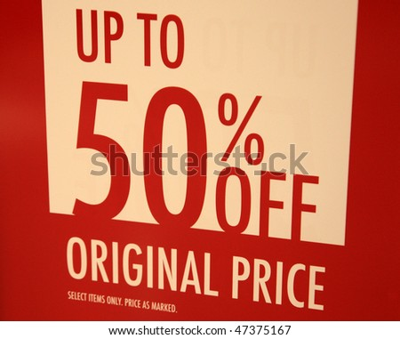 sale time - stock photo