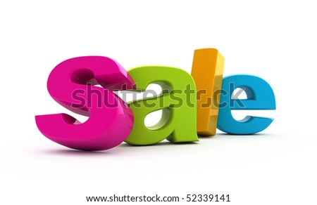 Sale word single from three-dimensional letters. - stock photo