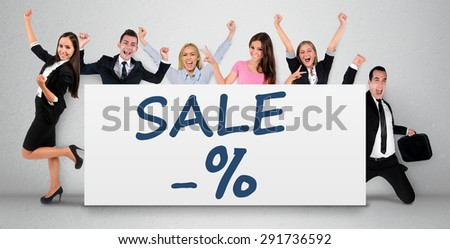 Sale word writing on banner