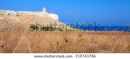 Salento coast in Puglia, Italy - stock photo
