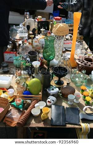 SALES antiques in Belgium, - stock photo