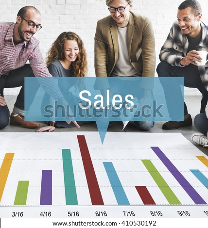 Sales Finance Selling Inventory Data Concept - stock photo