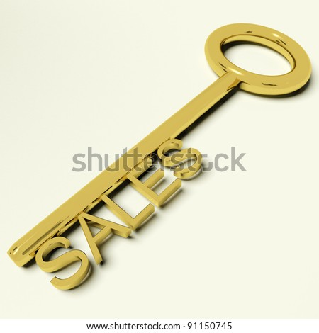 Sales Gold Key Representing Business And Commerce