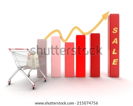 sales growth - stock photo