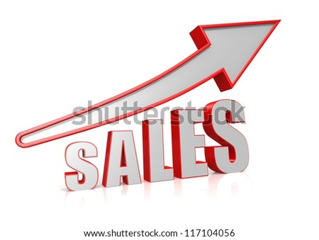 Sales Growth with arrow symbol