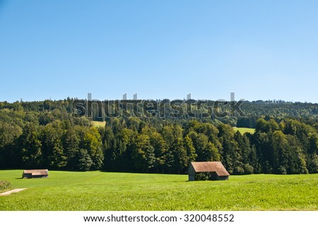 Sales is a little town in Fribourg Switzerland - stock photo