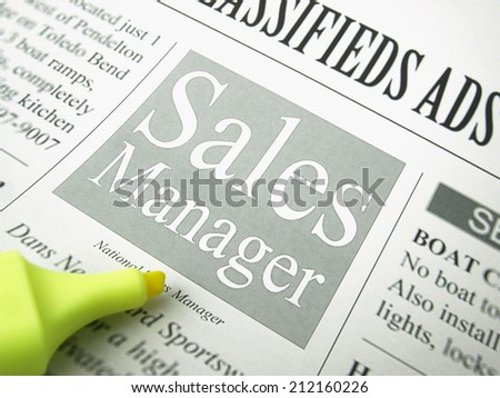 Sales Manager (job search)     - stock photo
