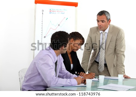 Sales meeting - stock photo