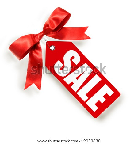 Sales tag isolated on white background - stock photo
