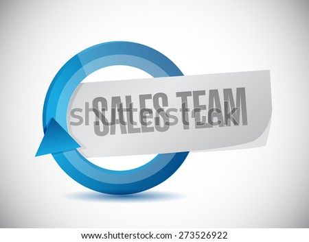 sales team cycle sign concept illustration design over white - stock photo