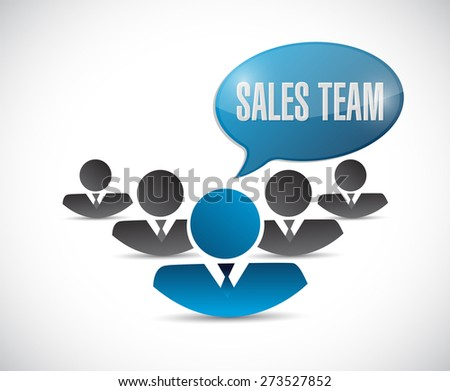 sales team sign concept illustration design over white - stock photo