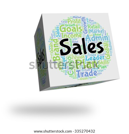 Sales Word Showing Market Selling And Sell
