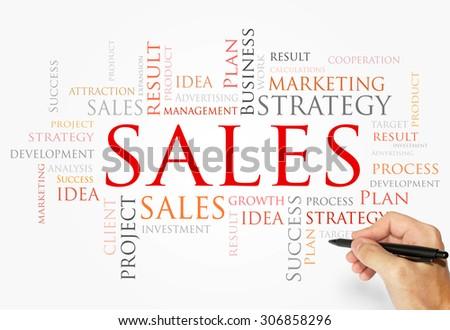 Sales words concept - stock photo