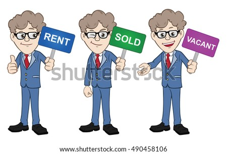 Salesmen with signs