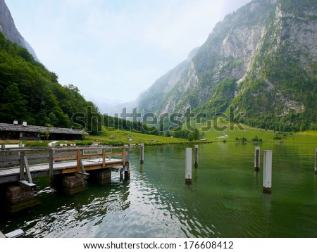 Salet port at Konigsee lake, Berchtesgaden, Germany - stock photo