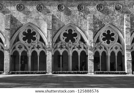 Salisbury Cathedral Cloisters, England - stock photo