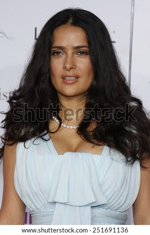 "Salma Hayek at the Los Angeles Premiere of ""Vicky Cristina Barcelona"" held at the Mann Village Theater in Hollywood, California, United States on August 4, 2008."