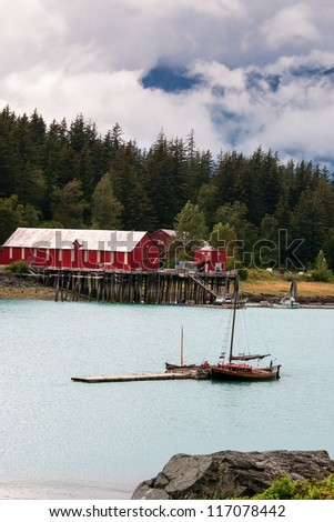 Salmon Cannery Haines Alaska - stock photo