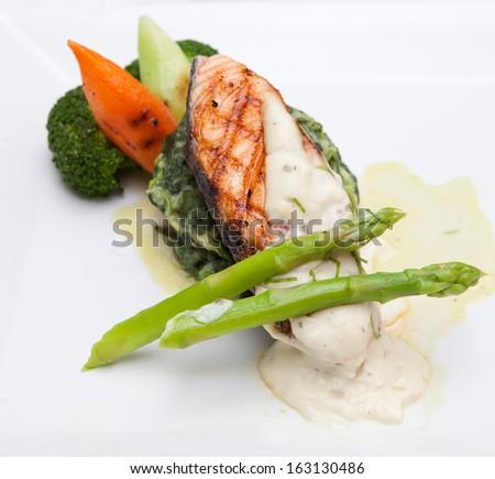Salmon Dinner - stock photo