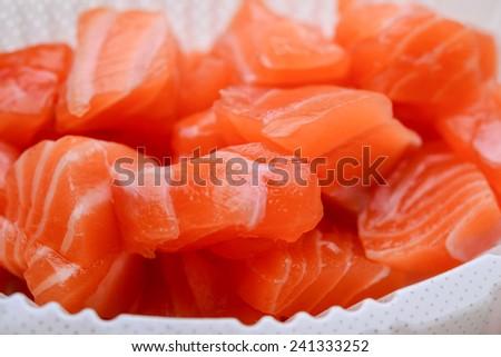 salmon fish - stock photo