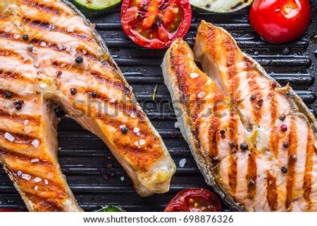 Teriyaki salmon grill pan for Pan grilled fish