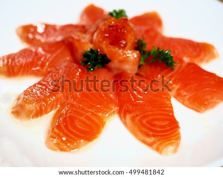 Salmon is a fish that contains vitamins, omega.