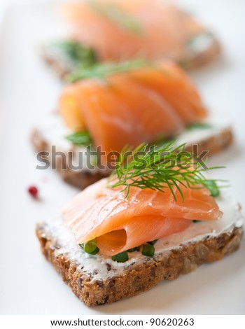Salmon Snack - stock photo