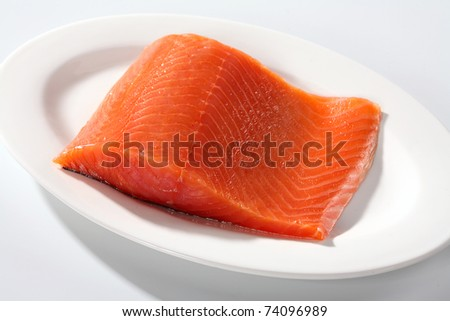 Salmon steak red fish Fresh salmon steak