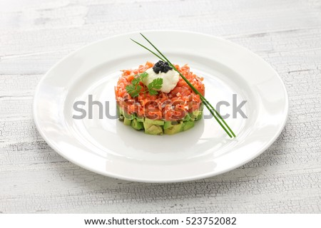 salmon tartare with avocado